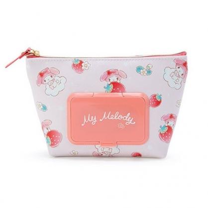 小禮堂 美樂蒂 船形皮質濕紙巾收納包 抽取式紙巾包 面紙化妝包 (粉 草莓)