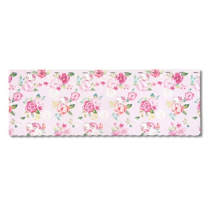 小禮堂 Hello Kitty 日製 棉麻短門簾 窗簾 遮光簾 45x120cm (粉 玫瑰)