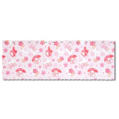 小禮堂 美樂蒂 日製 棉麻短門簾 窗簾 遮光簾 45x120cm (粉 花朵)