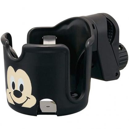 小禮堂 迪士尼 米奇 嬰兒車用飲料杯架 旋轉杯架 寶特瓶架 夾式杯架 (黑 大臉)