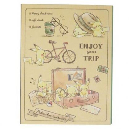 小禮堂 神奇寶貝 日製 方形多折自黏標籤本 N次貼 自黏便箋 便利貼 書籤貼 (黃 提箱)