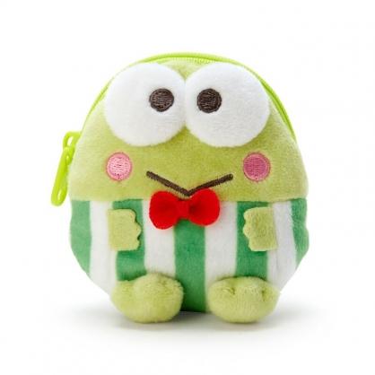 小禮堂 大眼蛙 造型絨毛零錢包 玩偶零錢包 圓形零錢包 耳機包 (綠 全身)