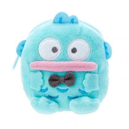 小禮堂 人魚漢頓 造型絨毛零錢包 玩偶零錢包 圓形零錢包 耳機包 (藍 全身)