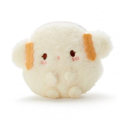 小禮堂 小麥粉 造型絨毛零錢包 玩偶零錢包 圓形零錢包 耳機包 (米 全身)