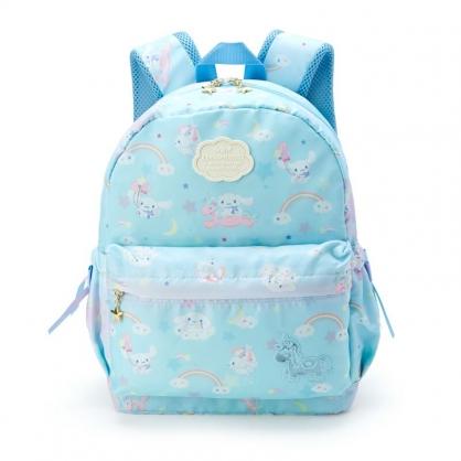 小禮堂 大耳狗 尼龍雙層後背包 防潑水後背包 休閒背包 書包 10L (藍 彩虹)