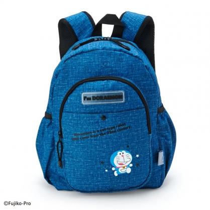 小禮堂 哆啦A夢 尼龍雙層後背包 防潑水後背包 休閒背包 書包 10L (藍 星星)