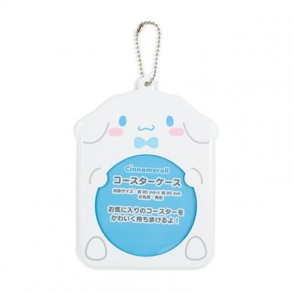 小禮堂 大耳狗 造型透明杯墊保護套 矽膠杯墊套 方杯墊 圓杯墊 (藍 演唱會粉絲收納)