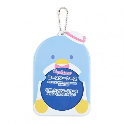 小禮堂 山姆企鵝 造型透明杯墊保護套 矽膠杯墊套 方杯墊 圓杯墊 (藍 演唱會粉絲收納)