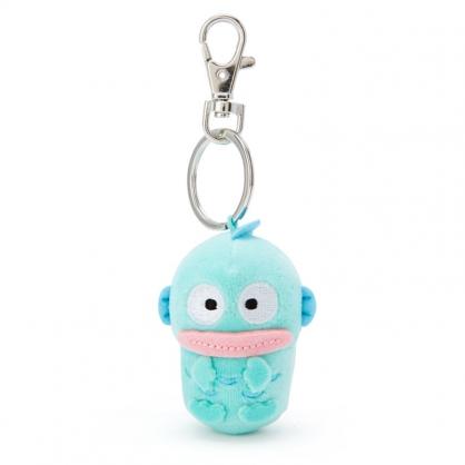 小禮堂 人魚漢頓 造型絨毛伸縮鑰匙圈 易拉扣鑰匙圈 玩偶鑰匙圈 (藍 全身)