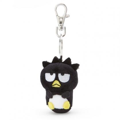 小禮堂 酷企鵝 造型絨毛伸縮鑰匙圈 易拉扣鑰匙圈 玩偶鑰匙圈 (黑 全身)