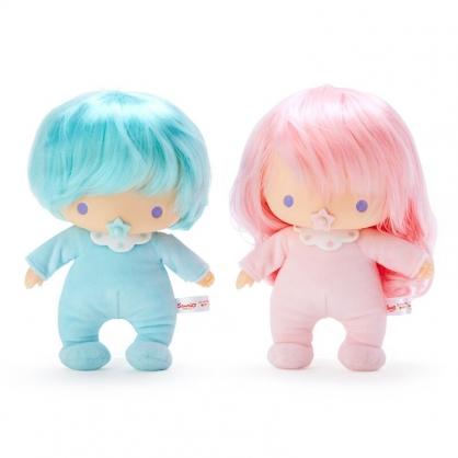 小禮堂 雙子星 紀念絨毛玩偶組 塑膠玩偶 絨毛娃娃 小型玩偶 布偶 (2入 粉綠 45週年)