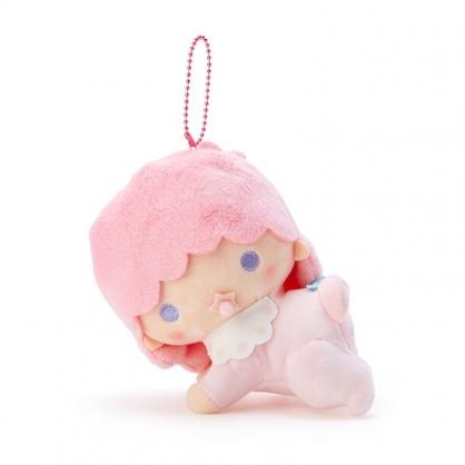 小禮堂 雙子星 Lala 絨毛吊飾 玩偶吊飾 玩偶鑰匙圈 包包吊飾 (粉 45週年)