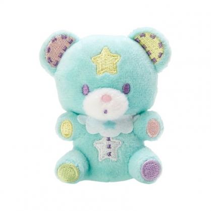 小禮堂 雙子星 糖果熊 絨毛玩偶胸針 玩偶別針 造型胸章 (綠 45週年)