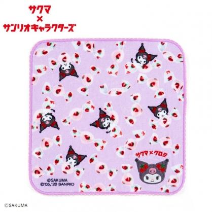 小禮堂 酷洛米 x ??? 純棉割絨方巾 純棉手帕 小毛巾 23x23cm (紫)