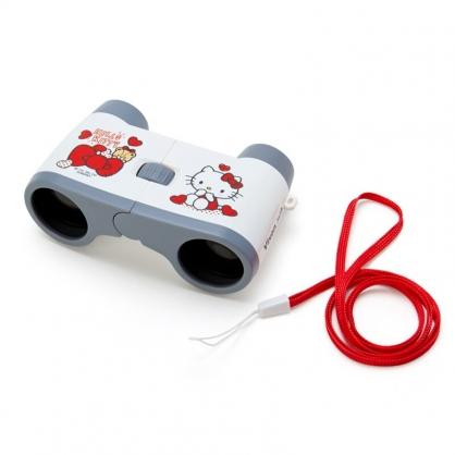 小禮堂 Hello Kitty 雙筒望遠鏡 附頸掛繩 觀賽望遠鏡 天文望遠鏡 Vixen (紅)