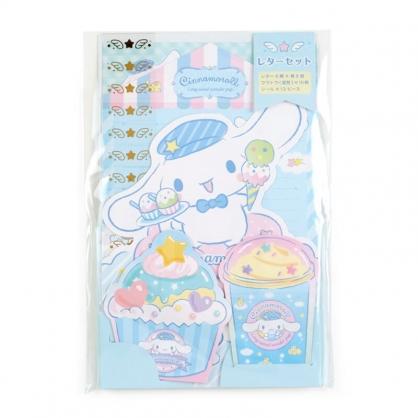 小禮堂 大耳狗 日製 豪華信紙組 附貼紙 信封 便條紙 便箋紙 萬用卡片 (藍 甜點)