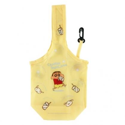小禮堂 蠟筆小新 環保尼龍水壺袋 環保杯袋 飲料杯袋 (黃 飲料)