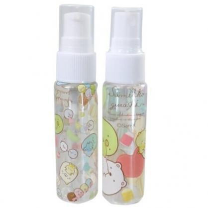 小禮堂 角落生物 隨身透明噴霧空瓶組 擠壓空瓶 酒精噴瓶 分裝瓶 30ml (2入 黃 玩偶)