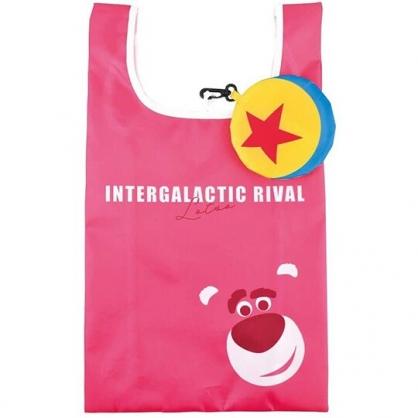 小禮堂 迪士尼  熊抱哥 折疊尼龍環保購物袋 環保袋 側背袋 手提袋 (黃 星星)