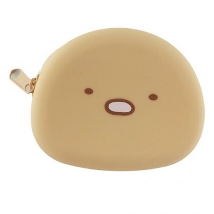小禮堂 角落生物 豬排 造型矽膠零錢包 防水零錢包 耳機包 小物包 (棕 大臉)