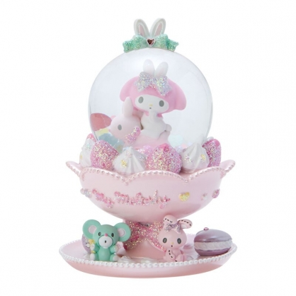 小禮堂 美樂蒂 迷你造型聖誕雪球 聖誕水晶球 玻璃雪球 雪花球 (粉 2020聖誕節)