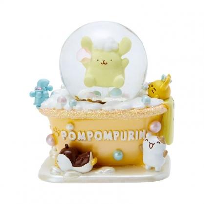 小禮堂 布丁狗 迷你造型聖誕雪球 聖誕水晶球 玻璃雪球 雪花球 (黃 2020聖誕節)
