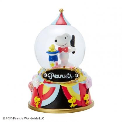 小禮堂 史努比 迷你造型聖誕雪球 聖誕水晶球 玻璃雪球 雪花球 (紅 2020聖誕節)