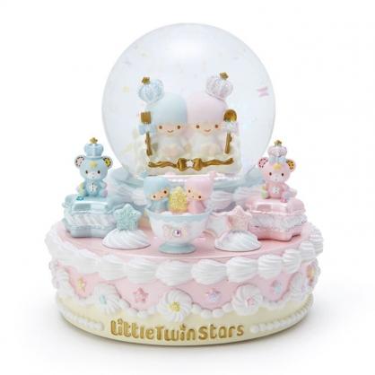 小禮堂 雙子星 造型發光聖誕雪球 聖誕水晶球 玻璃雪球 雪花球 (粉 2020聖誕節)
