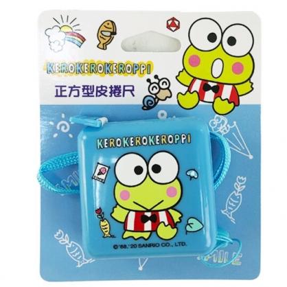 小禮堂 大眼蛙 方形伸縮捲尺 皮尺 量衣尺 150cm (藍 招手)