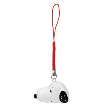 小禮堂 史努比 造型金屬鈴鐺吊飾 鈴鐺鑰匙圈 金屬吊飾 (白 大臉)
