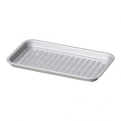 小禮堂 Pearl 日製 方形不鏽鋼燒烤盤 平底烤盤 烤肉盤 煎盤 (銀)