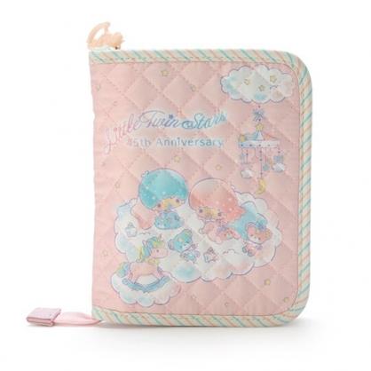 小禮堂 雙子星 厚棉多功能收納包 票據包 證件包 護照包 文具包 (粉 45週年)