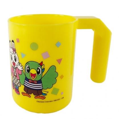 小禮堂 巧虎 單耳塑膠牙刷杯 兒童水杯 漱口杯 塑膠杯 280ml (黃 排站)