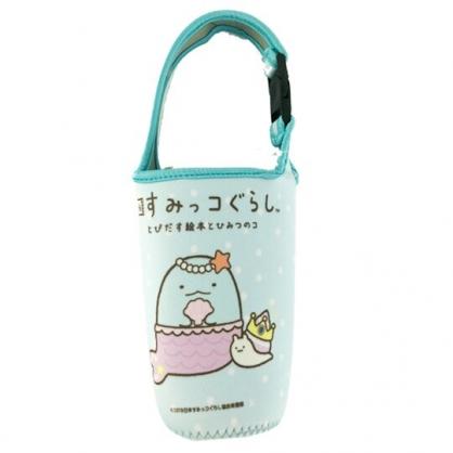 小禮堂 角落生物 恐龍 潛水布水壺袋 環保杯袋 飲料杯袋 水壺套 (藍 童話)