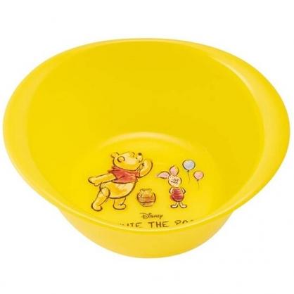 小禮堂 迪士尼 小熊維尼 圓形塑膠臉盆 洗臉盆 小臉盆 水盆 (黃 汽球)