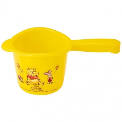 小禮堂 迪士尼 小熊維尼 塑膠水瓢 小水瓢 舀水器 水勺 500ml (黃 汽球)