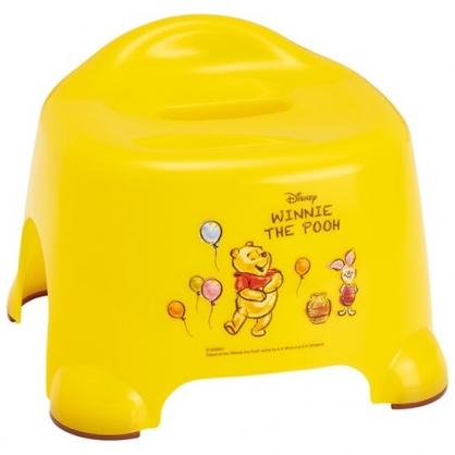 小禮堂 迪士尼 小熊維尼 塑膠兒童浴椅 淋浴椅 矮凳 小椅子 (黃 汽球)