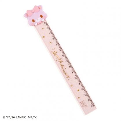 小禮堂 甜夢貓 造型塑膠尺 玩偶尺 透明尺 直尺 量尺 15cm (粉 大臉)