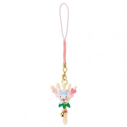 小禮堂 美樂蒂 造型塑膠吊飾 新年吊飾 祈福吊飾 玩偶鑰匙圈 (棕 熊手)