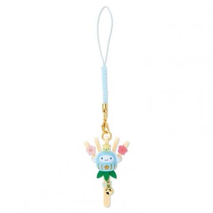 小禮堂 大耳狗 造型塑膠吊飾 新年吊飾 祈福吊飾 玩偶鑰匙圈 (藍 熊手)