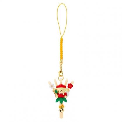 小禮堂 布丁狗 造型塑膠吊飾 新年吊飾 祈福吊飾 玩偶鑰匙圈 (棕 熊手)