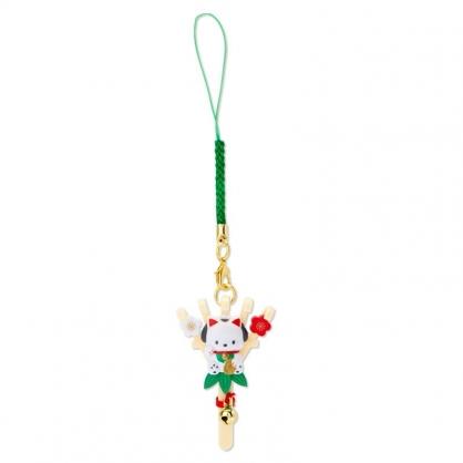 小禮堂 帕恰狗 造型塑膠吊飾 新年吊飾 祈福吊飾 玩偶鑰匙圈 (棕 熊手)