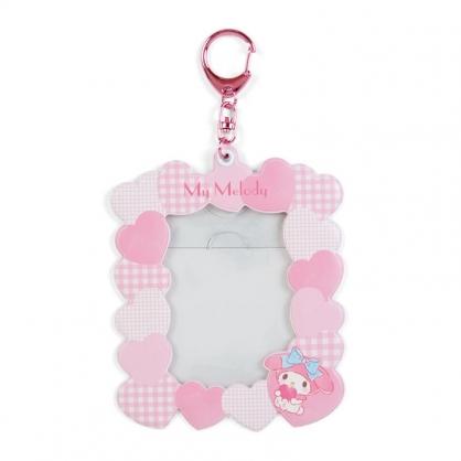 小禮堂 美樂蒂 造型拍立得收納套鑰匙圈 票卡夾 車票夾 證件夾 (粉 演唱會粉絲收納)