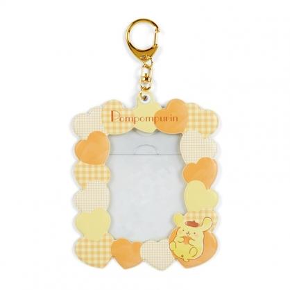 小禮堂 布丁狗 造型拍立得收納套鑰匙圈 票卡夾 車票夾 證件夾 (黃 演唱會粉絲收納)