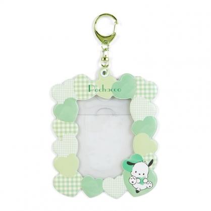 小禮堂 帕恰狗 造型拍立得收納套鑰匙圈 票卡夾 車票夾 證件夾 (綠 演唱會粉絲收納)