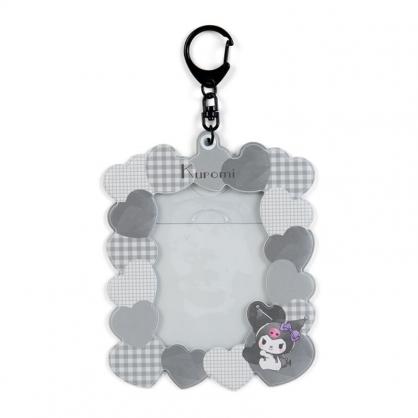 小禮堂 酷洛米 造型拍立得收納套鑰匙圈 票卡夾 車票夾 證件夾 (灰 演唱會粉絲收納)