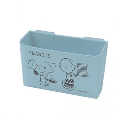 小禮堂 史努比 日製 冰箱門邊收納架 冰箱收納盒 掛式收納架 醬料架 (藍 廚師)