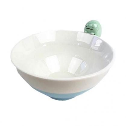 小禮堂 角落生物 恐龍 造型陶瓷碗 火鍋碗 飯碗 湯碗 (藍 碗邊玩偶)