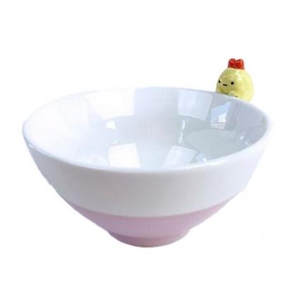 小禮堂 角落生物 炸蝦 造型陶瓷碗 火鍋碗 飯碗 湯碗 (粉 碗邊玩偶)