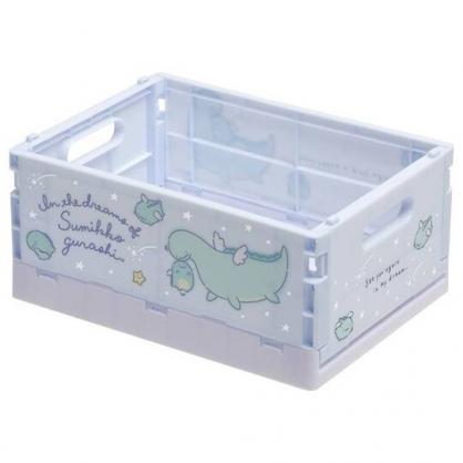 小禮堂 角落生物 恐龍 折疊無蓋收納箱 塑膠收納箱 折疊收納箱 小物箱 (S 藍 翅膀)